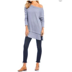 Free People North Shore tunic top storm grey NWT
